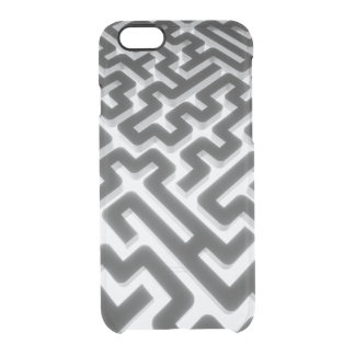 Maze Silver Black Clear iPhone 6/6S Case