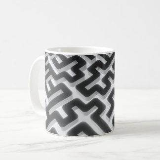 Maze Silver Black Coffee Mug