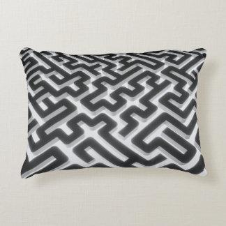 Maze Silver Black Decorative Cushion