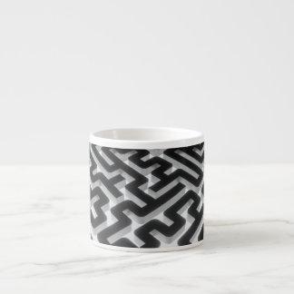 Maze Silver Black Espresso Cup