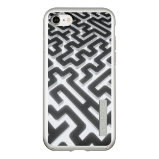 Maze Silver Black Incipio DualPro Shine iPhone 8/7 Case