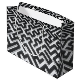 Maze Silver Black Large Gift Bag