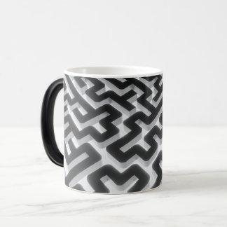 Maze Silver Black Magic Mug
