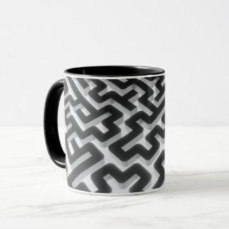 Maze Silver Black Mug