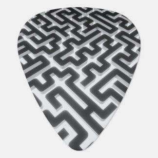 Maze Silver Black Plectrum