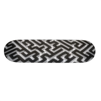Maze Silver Black Skateboard