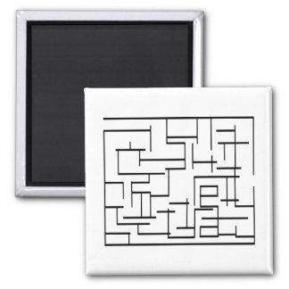 Maze Square Magnet