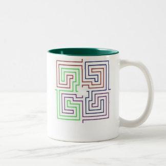 maze Two-Tone mug