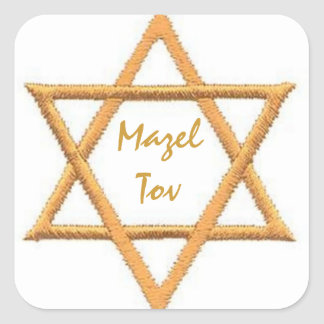Mazel Tov/Good Luck Square Sticker