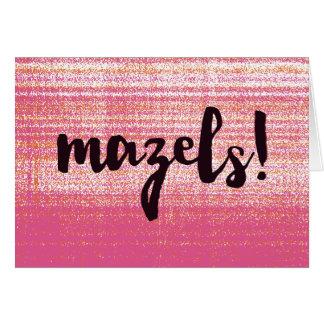 Mazels Pink Card