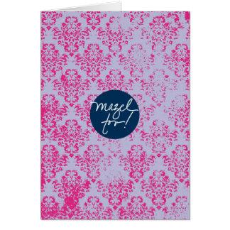Mazels Tov Pink Wallpaper Card