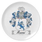 Mazzoni Family Crest Plate