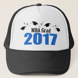 MBA Grad 2017 Caps And Diplomas (Blue)