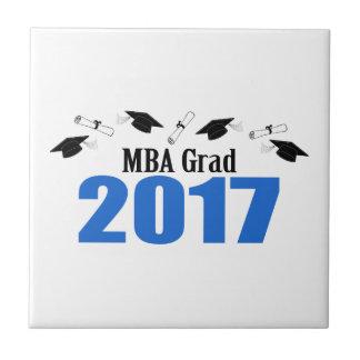 MBA Grad 2017 Caps And Diplomas (Blue) Tile