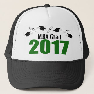 MBA Grad 2017 Caps And Diplomas (Green)