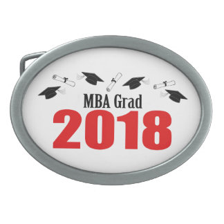 MBA Grad Caps And Diplomas 2018 (Red) Belt Buckle