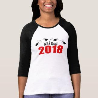 MBA Grad Caps And Diplomas 2018 (Red) T-Shirt