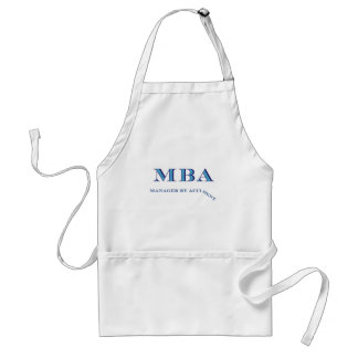MBA Manager By Accident Aprons
