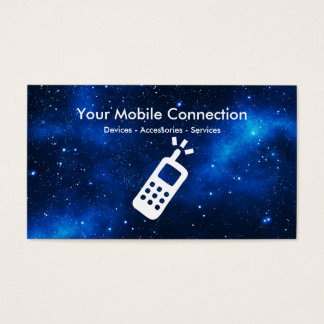 Mbile Phone Technology Theme Business Card
