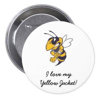 Mbrfl Yellow Jackets Under 10 7.5 Cm Round Badge