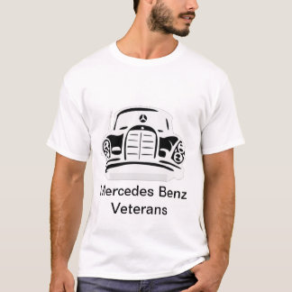 MBZ Veterans Basic Tee Black Logo on White v 01