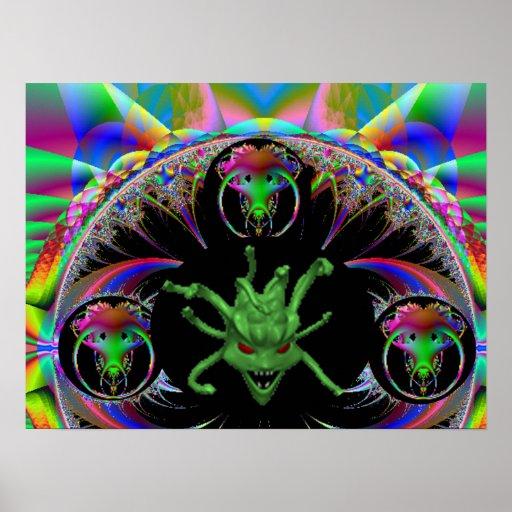MC7 Alien Fractal Poster