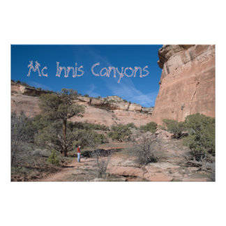 Mc Innis Canyons Travel Poster