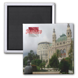 MC - Monaco - Hotel Hermitage and the Casino Opera Square Magnet