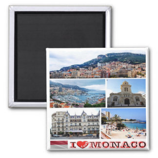 MC - Monaco - I Love - Collage Mosaic Magnet