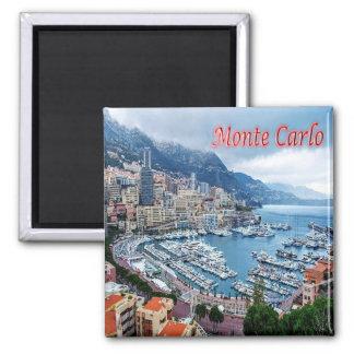 MC - Monaco - Monte Carlo - Panorama Square Magnet