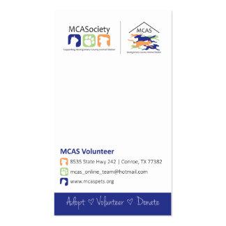MCAS Business Card - Vertical Option 1