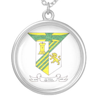 McAuley High School Coat of Arms Round Pendant Necklace
