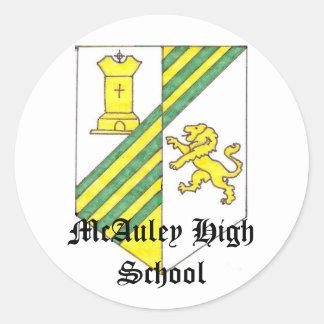 McAuley High School Crest Round Sticker