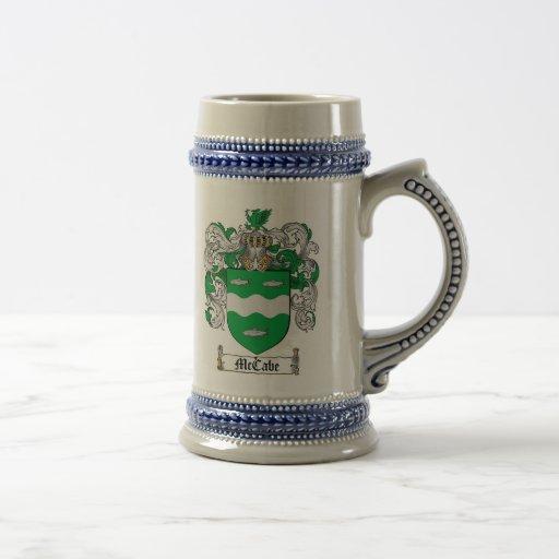 McCabe Coat of Arms Stein / McCabe Crest Stein Mugs