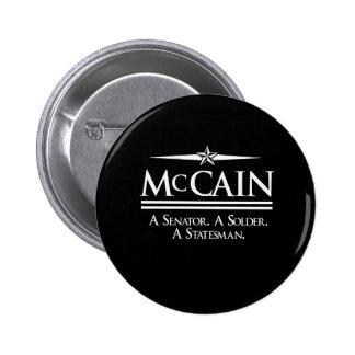 MCCAIN 2008: SENATOR & SOLDIER PINS
