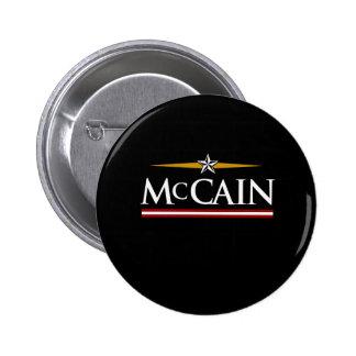 MCCAIN CAMPAIGN T-SHIRT 6 CM ROUND BADGE