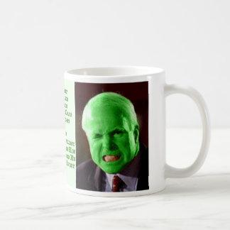 McCain Green Anger Basic White Mug