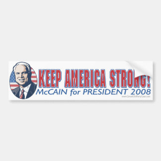 McCain Keep America Strong Bumper Sticker