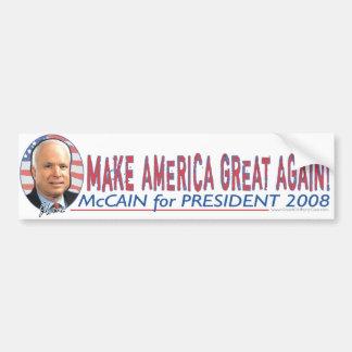 McCain Make America Great Bumper Sticker
