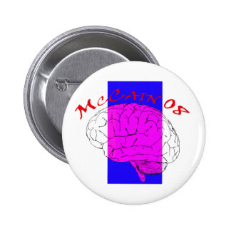 McCain on the Brain again 6 Cm Round Badge