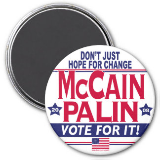 McCain Palin 2008 7.5 Cm Round Magnet