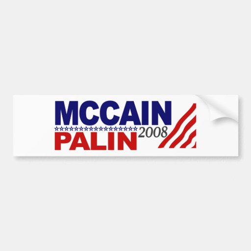 McCain Palin 2008 Bumper Sticker