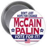 McCain Palin 2008 Pinback Buttons