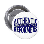 McCAIN PALIN Authentic Reformers Button