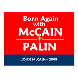 McCain Palin BORN AGAIN Postcard