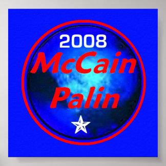 McCain Palin Cosmic Poster