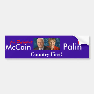 McCain Palin- Country First! Bumper Stickers