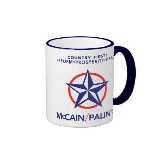 McCain/Palin Country First Star Mug