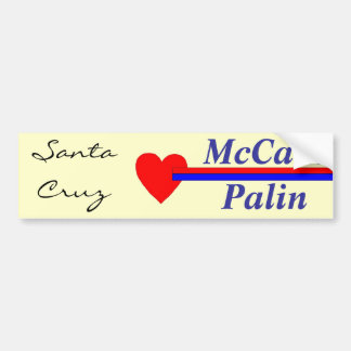 McCain Palin, Santa Cruz Love # 2 Bumper Sticker