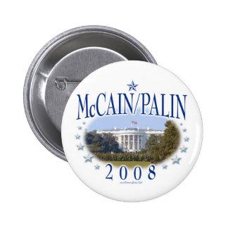 McCain Palin White House 2008 6 Cm Round Badge